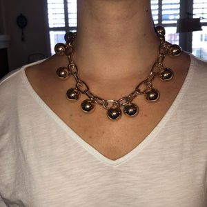 Gold necklace with fun gold balls!